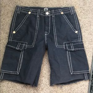 True Religion blue cargo shorts